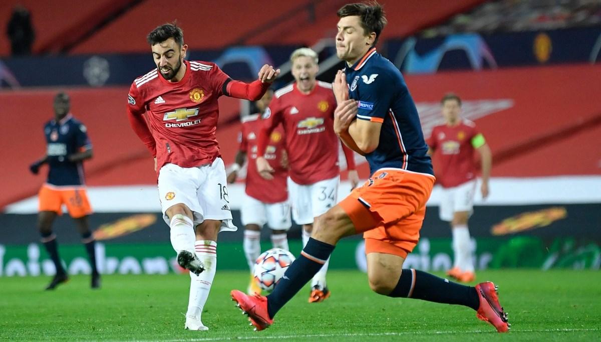SON DAKİKA:Medipol Başakşehir, Manchester United karşısında tutunamadı