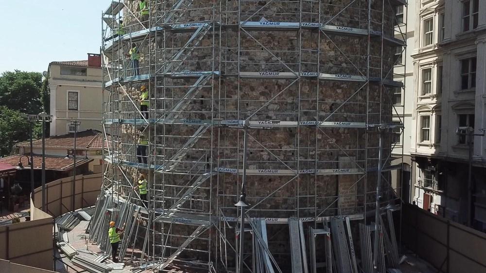 Galata Kulesi'nde restorasyon başladı - 2