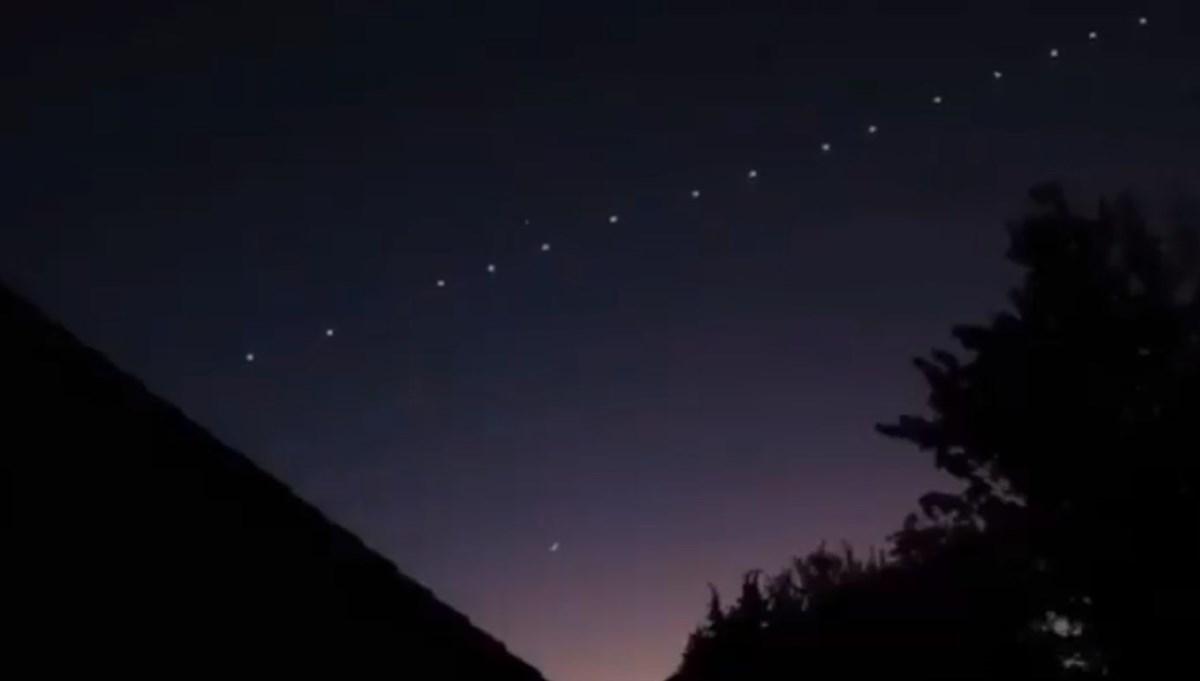 Gökyüzünde sıralı ışıklar (Starlink uyduları heyecana neden oldu)