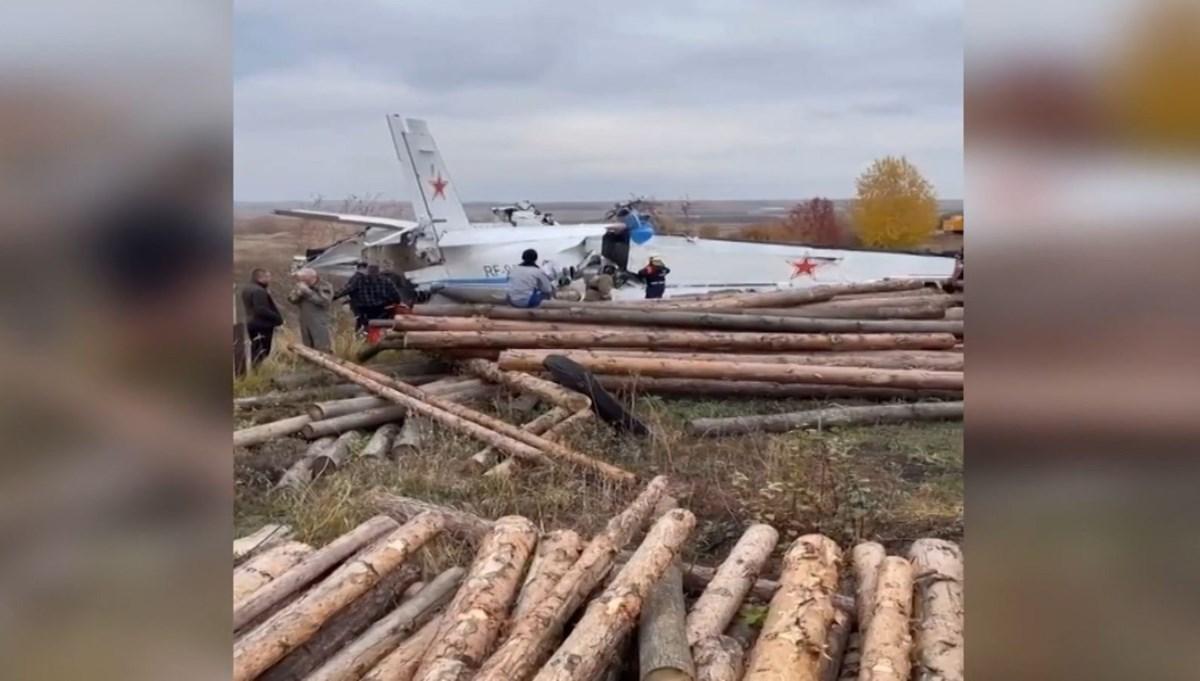 Tataristan'daki uçak kazasından ilk görüntü