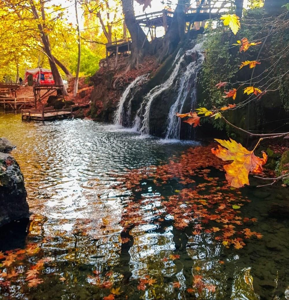 Kahramanmaraş'ta doğa harikası Döngel Şelalesi sonbaharda büyülüyor - 6