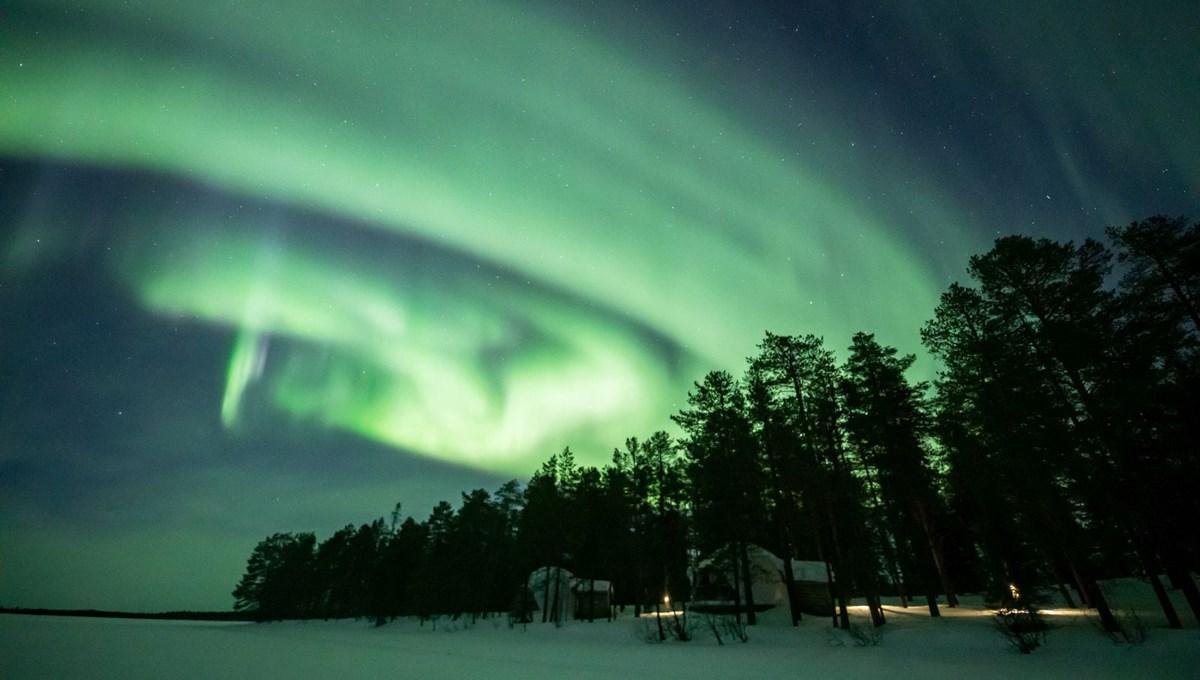 Finlandiya'da Kuzey Işıkları yine büyüledi