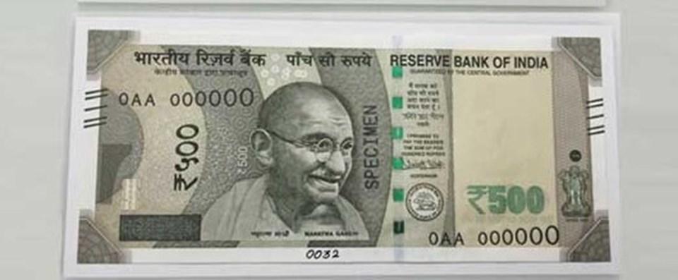 Yeni 500 rupi böyle olacak.