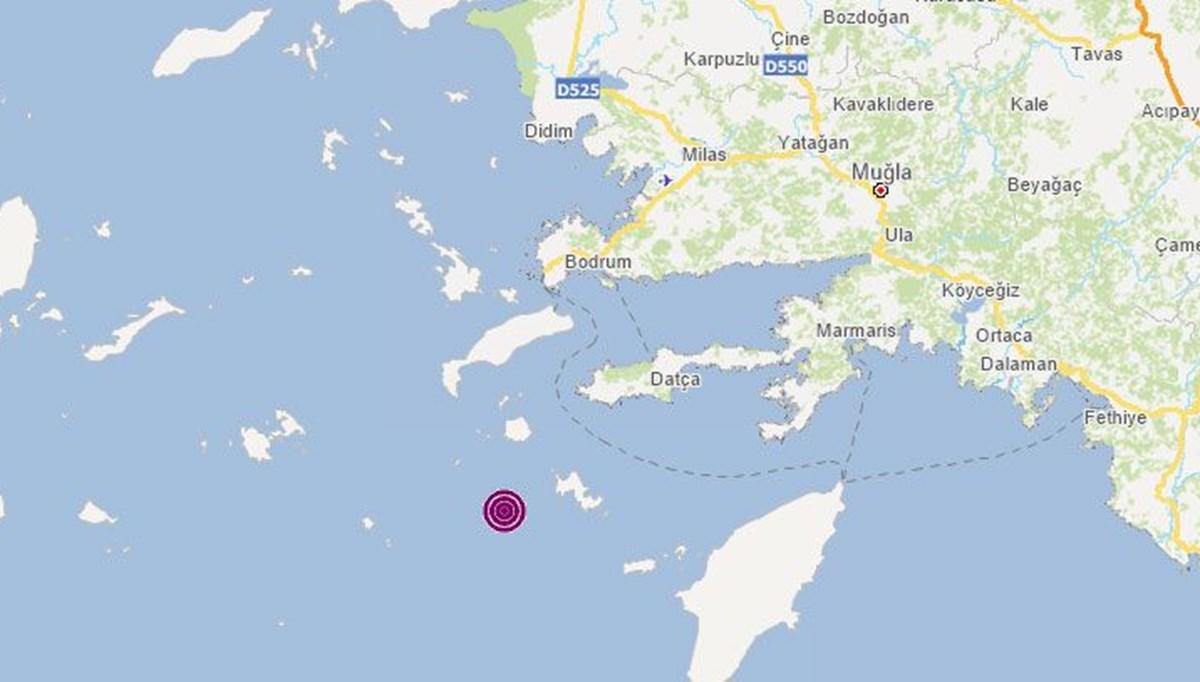 SON DAKİKA:Datça açıklarında 4,2 büyüklüğünde deprem