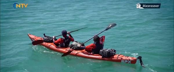Orkun Olgar İstanbul Boğazı'nı kanoyla geçiyor (Macerasever 4 Mayıs 2019)