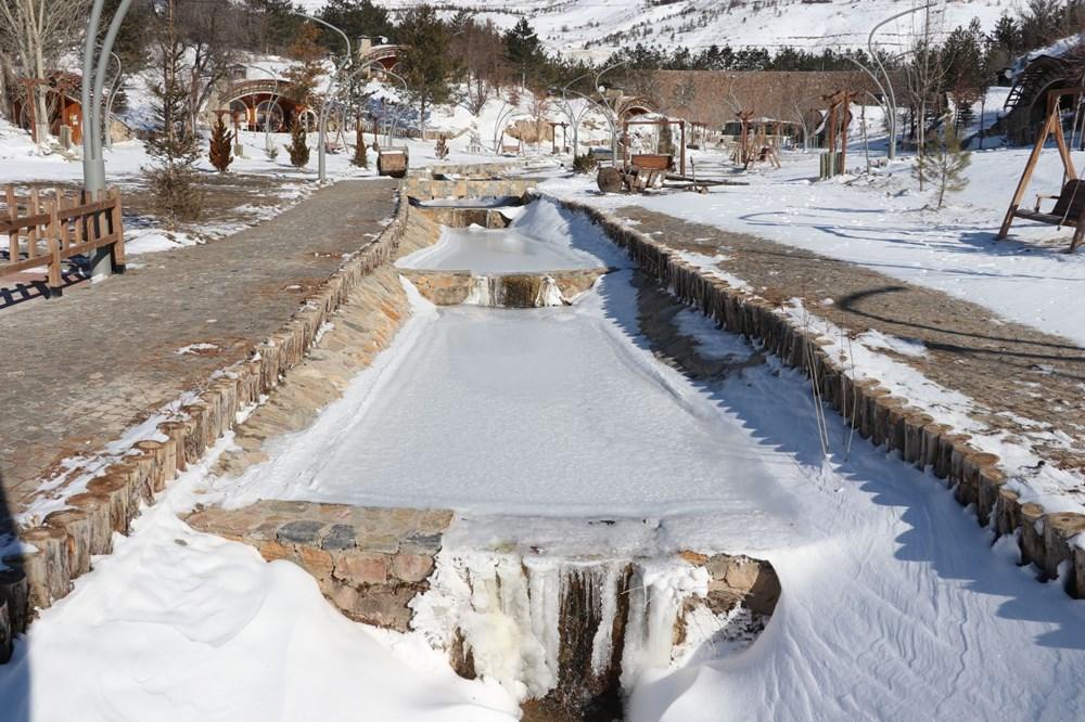 Türkiye'nin en soğuk yeri Sivas Altınyayla oldu, Kızılırmak kısmen buz tuttu - 9