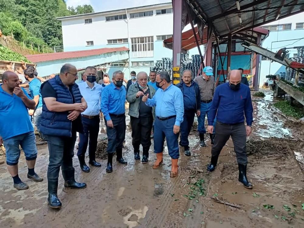 Rize ve Artvin'de beklenen yağış başladı: Arhavi'de iki mahalleyi su bastı - 9