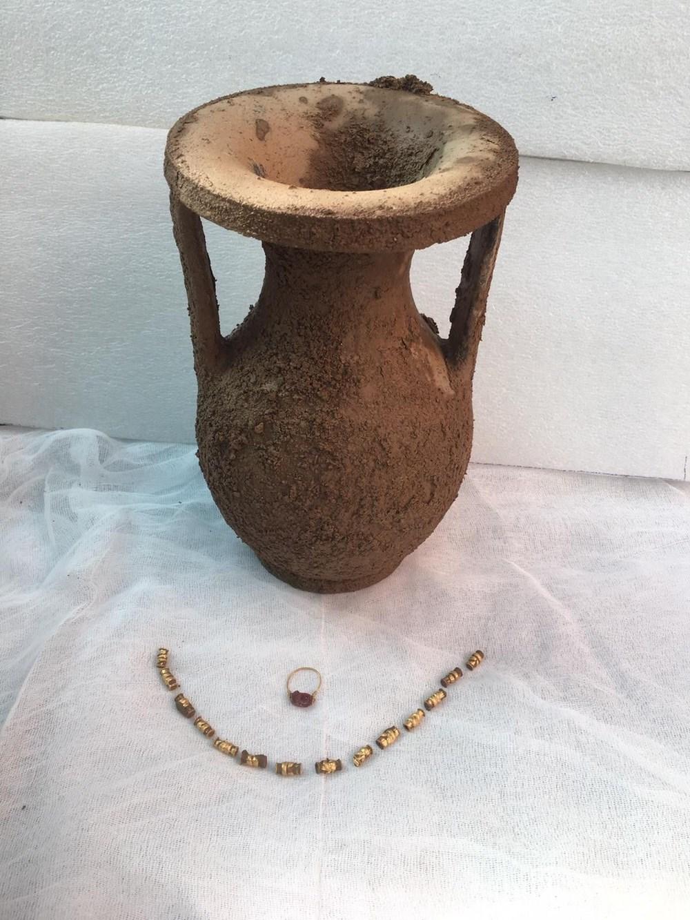 Bodrum'da 2400 yıllık tarihi lahit mezar kazısından altın çıktı - 5