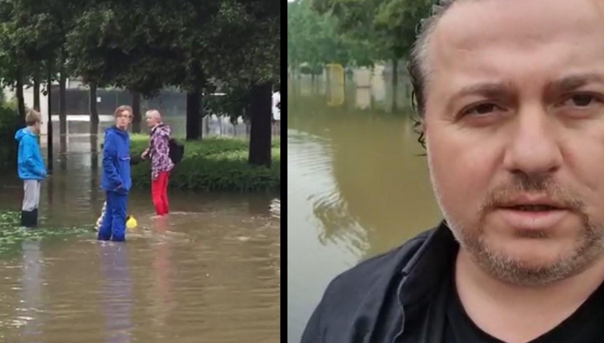 Almanya'da yaşayan Türk felaketi anlattı: 4 gündür durmadan yağmur yağıyor