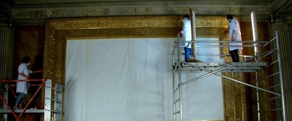 Dolmabahçe Sarayı'ndaki Sürre Alayı tablosu restorasyonda