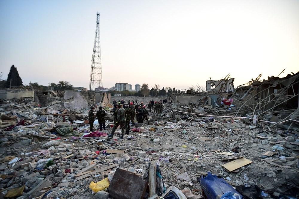 Ermenistan'ın Gence'ye füze saldırısının şiddeti gün ağarınca ortaya çıktı - 4