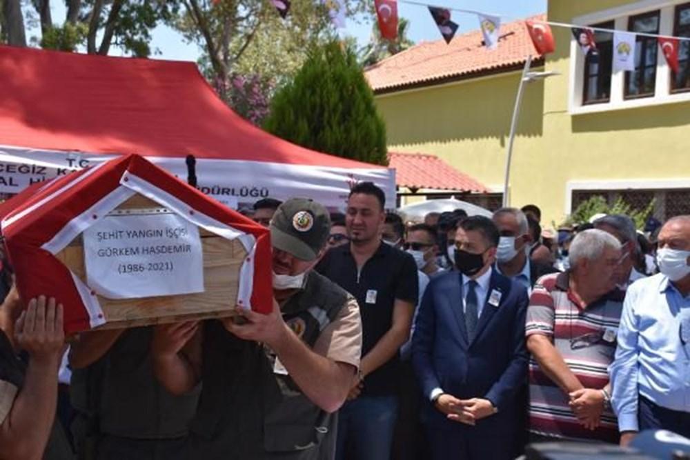 Muğla'da 'orman şehidi' törenle son yolculuğuna uğurlandı - 17