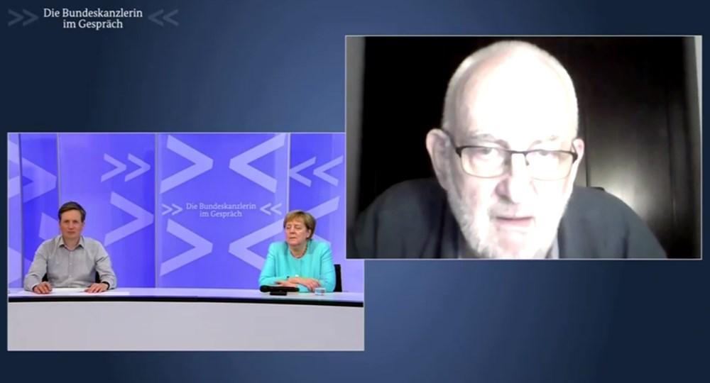 Angela Merkel televizyonda uyuya kaldı - 4