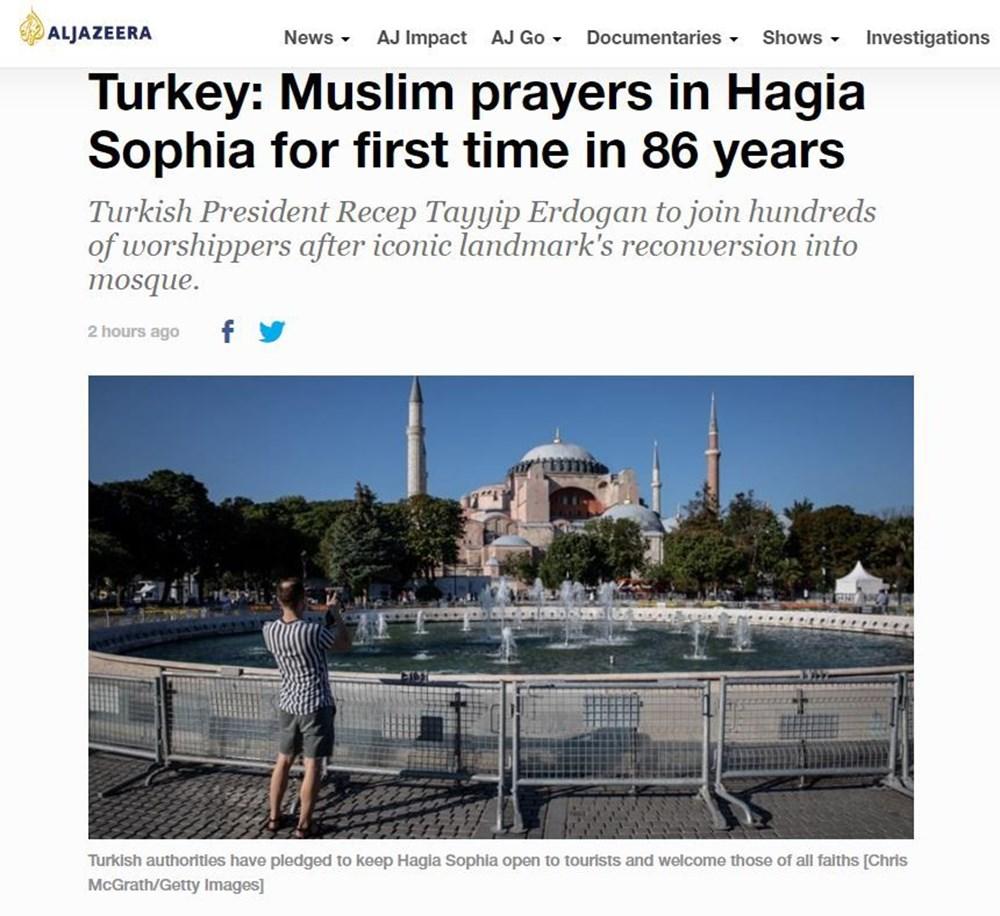 86 yıl sonra ibadete açılan Ayasofya Camii dünya basınında - 6
