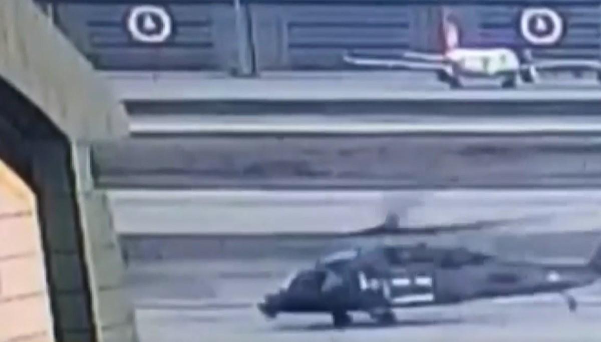 Sabiha Gökçen Havalimanı'ndaki helikopter kazasının görüntüleri