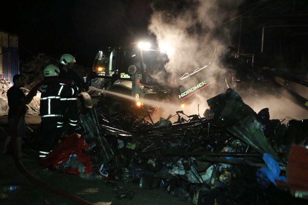 Samsun'da geri dönüşüm deposunda yangın - 5