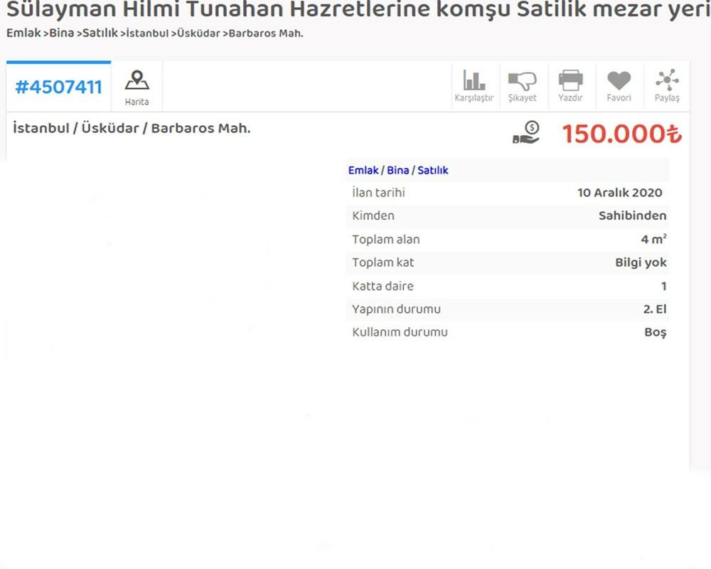 İstanbul'da mezar karaborsası; 2 milyon liraya mezar yeri satıyor - 10