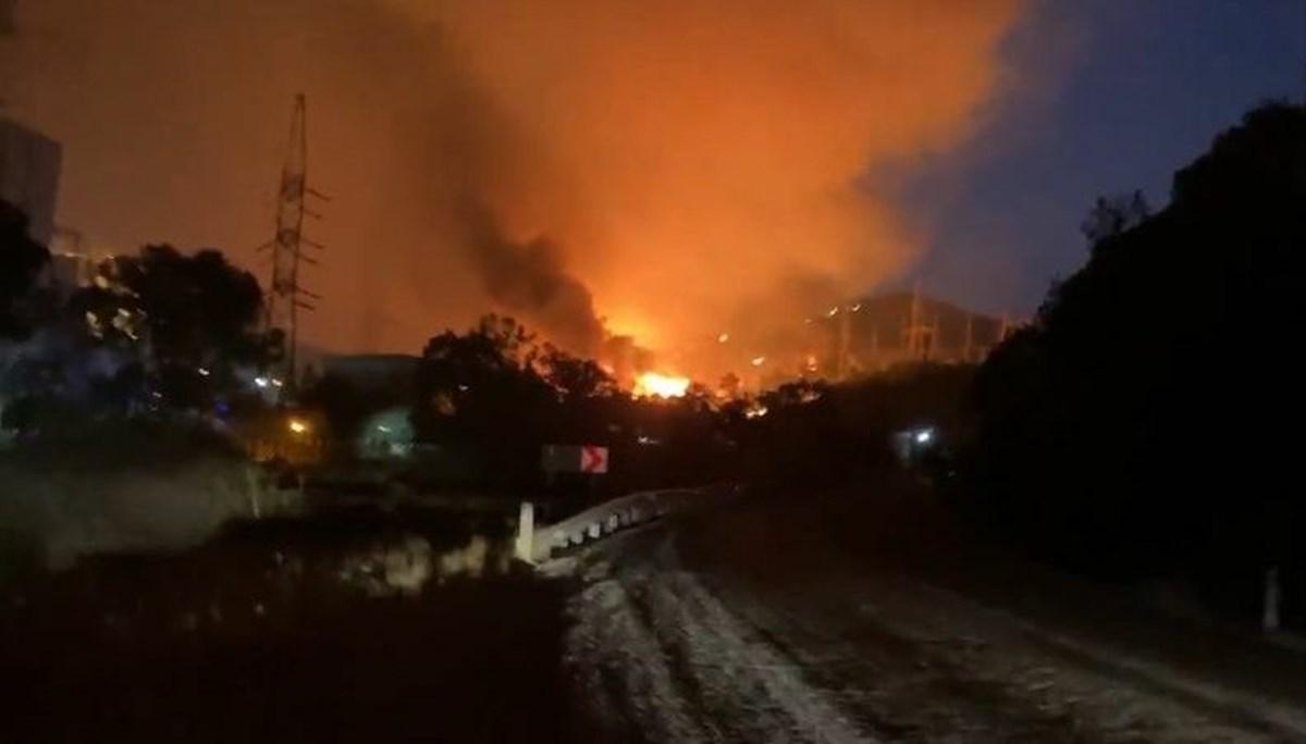Alevler termik santrale sıçradı (NTV olay yerinde)