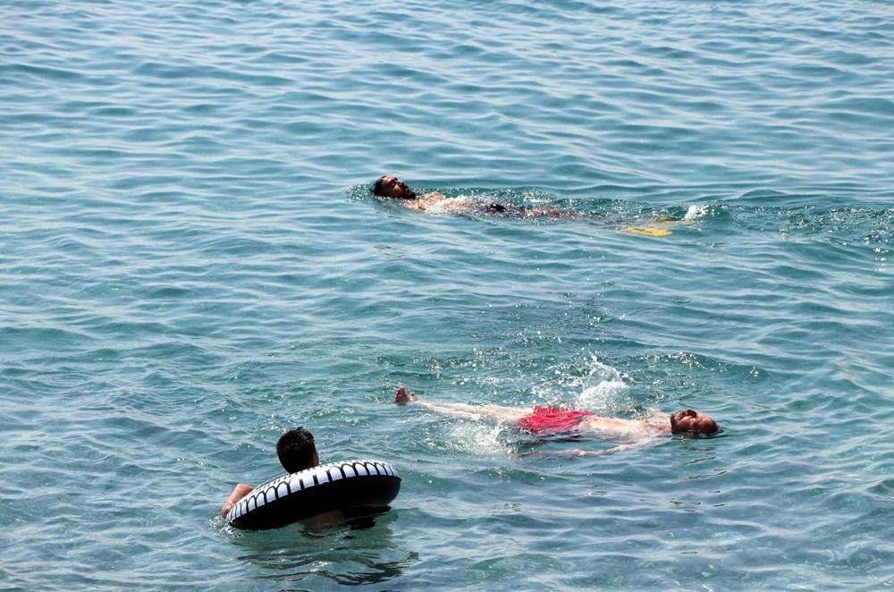 Van Gölü'nün mavi bayraklı plajına tatilci akını - 9