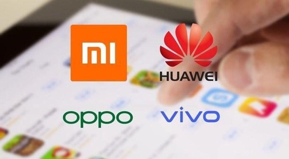 4 büyük Çin markası dünya telefon satışlarındaki payınısürekli artırıyor.