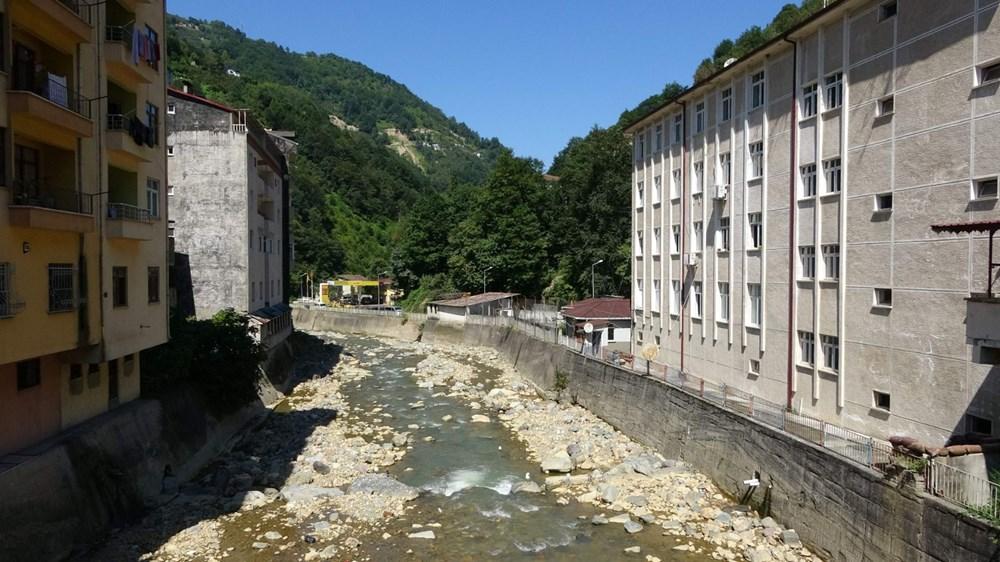 Trabzon'da tedirgin eden görüntü: Giresun'un Dereli ilçesi gibi sel riski taşıyor - 11