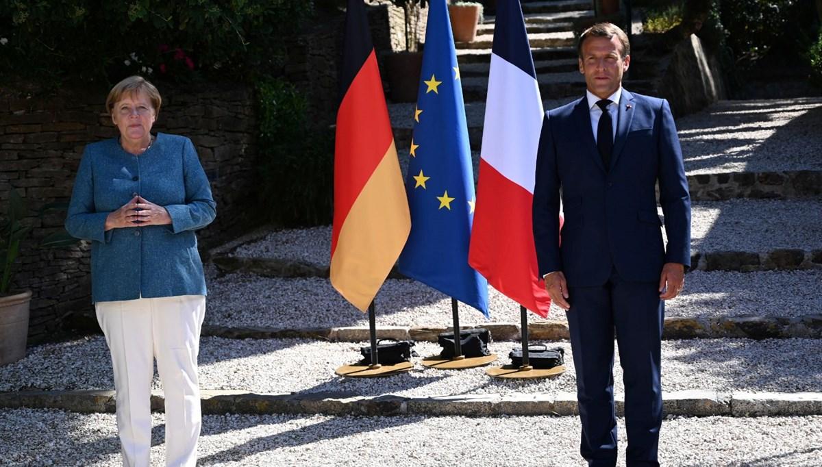 Macron ve Merkel Doğu Akdeniz'i konuştu