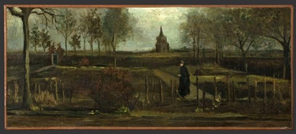 Vincent van Gogh'a ait İlkbahar Bahçesi tablosu