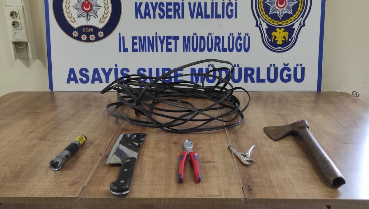 100 bin TL değerinde kablo çaldı, tutuklandı