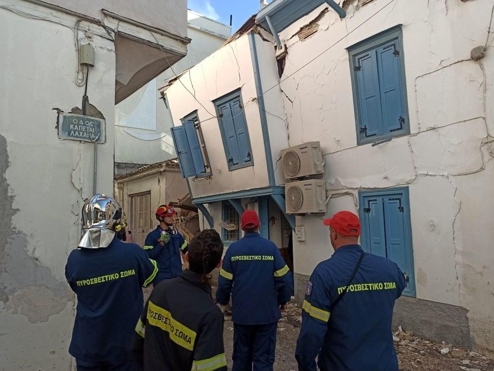 Depremin vurduğu Yunan adası Sisam'da son durum - 2