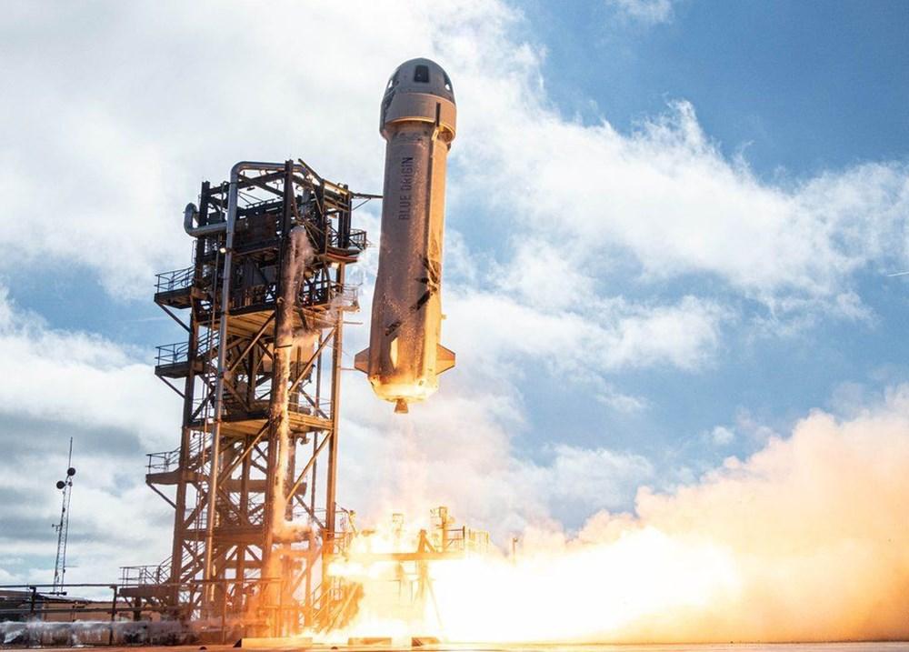 Dünyanın en zengin insanı Jeff Bezos'un uzay yolculuğu gerçekleşti - 5