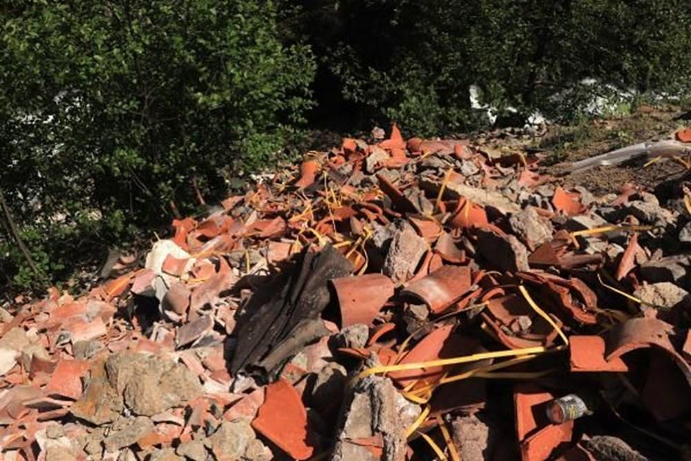 Sümela'da restorasyon atıklarını dereye döktüler - 3