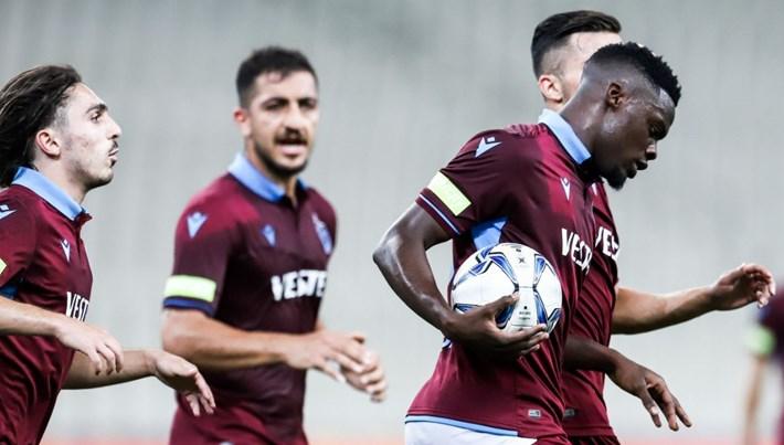 Trabzonspor, Yunanistan deplasmanından büyük avantajla dönüyor