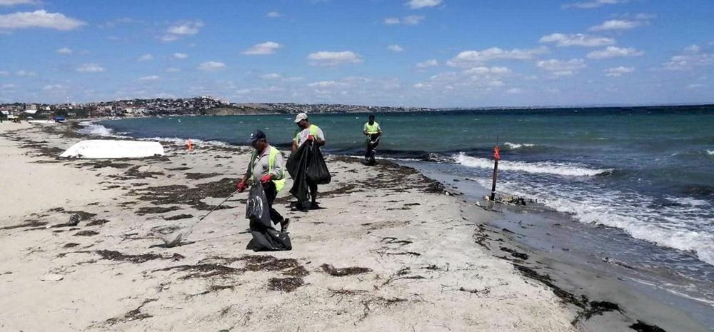 Tekirdağ'ın tatil beldesinde 500 ton çöp toplandı - 4