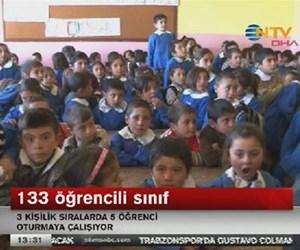 133 öğrencili sınıf