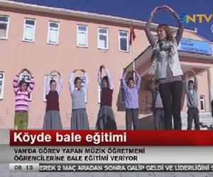 Köyde bale eğitimi