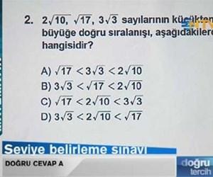 Seviye belirleme sınavı: Matematik