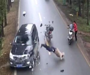 motosiklet kaza çin
