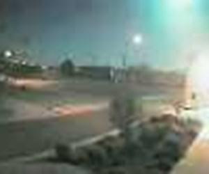 Güvenlik kamerasından meteor yağmuru