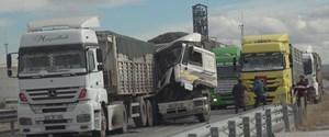 tır konvoy kaza