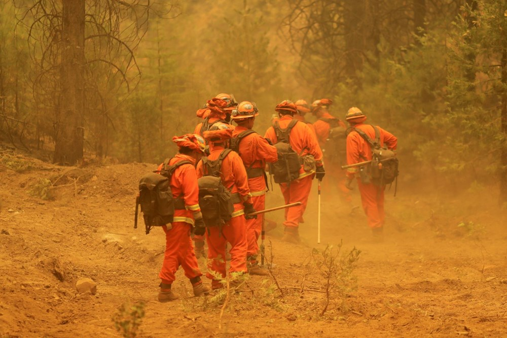 ABD'nin Kaliforniya eyaletinde orman yangınlarıyla mücadele büyüyor: 50 binden fazla evin elektriği kesildi - 5