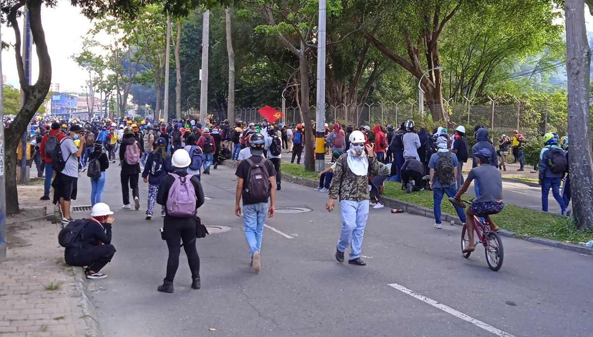 Government protests in Colombia: 43 injured, 21 of them police