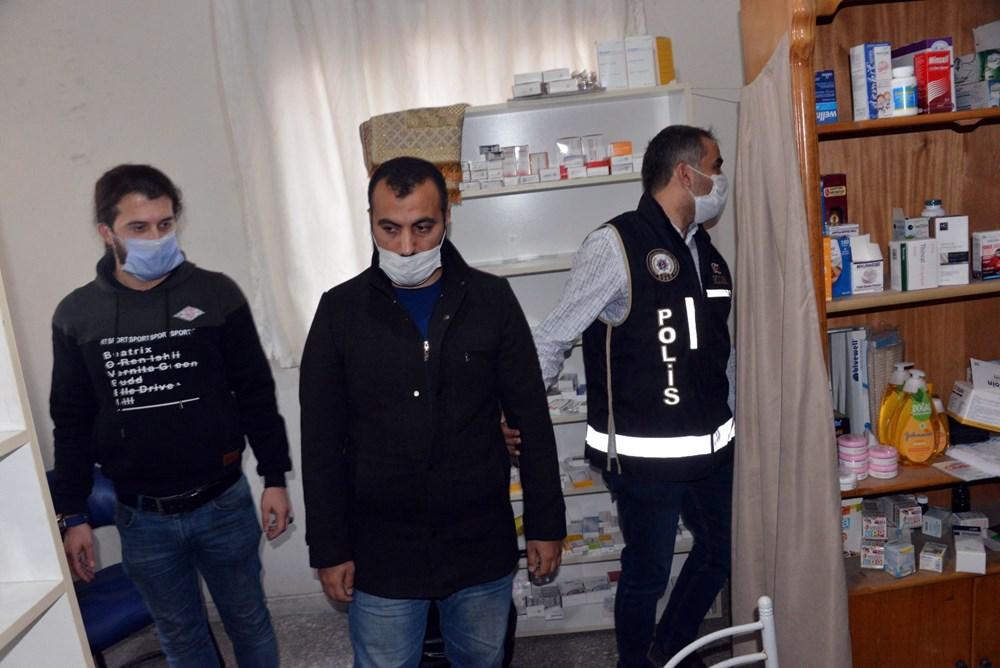Suriyelilerin işlettiği 6 kaçak kliniğe polis baskını - 12