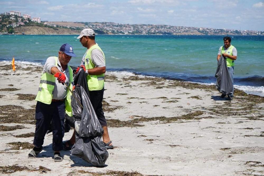 Tekirdağ'ın tatil beldesinde 500 ton çöp toplandı - 6