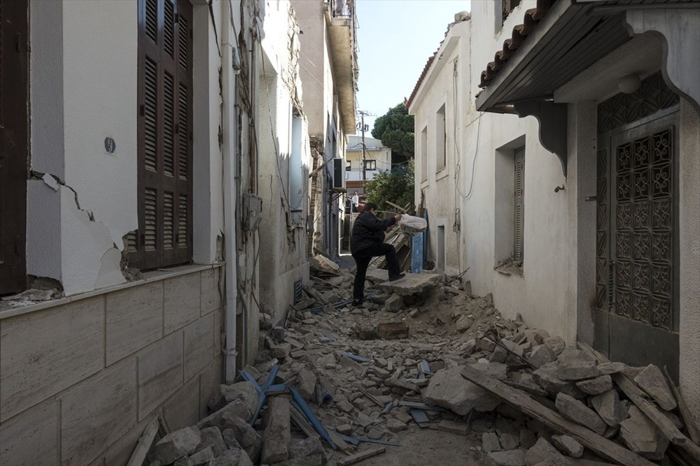 Depremin vurduğu Yunan adası Sisam'da son durum - 25