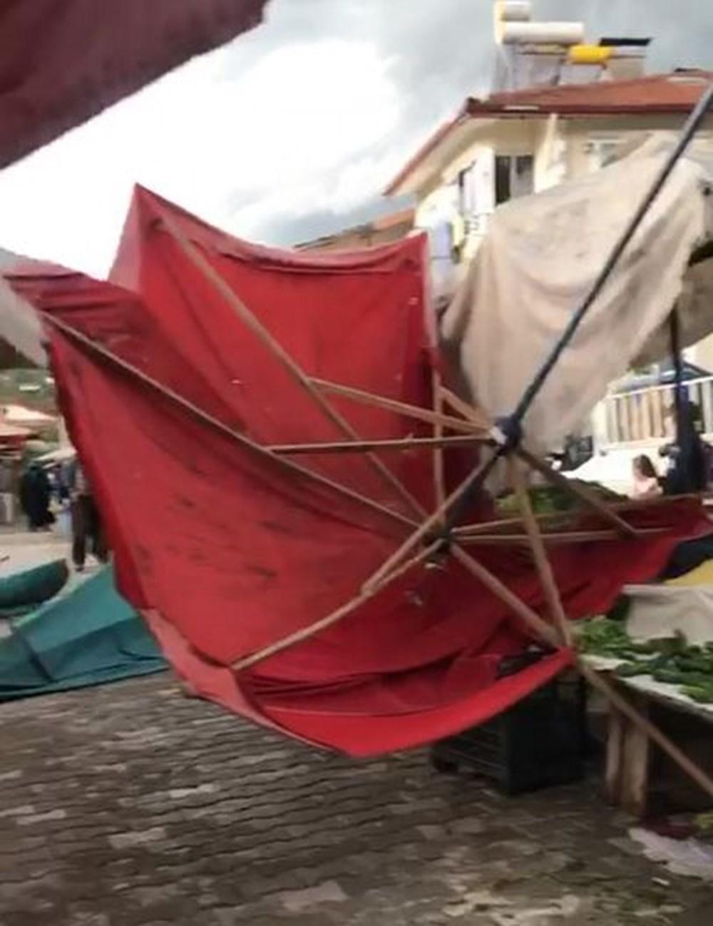 Tokat'ta şiddetli rüzgar: Çatılar uçtu, ağaçlar devrildi - 7