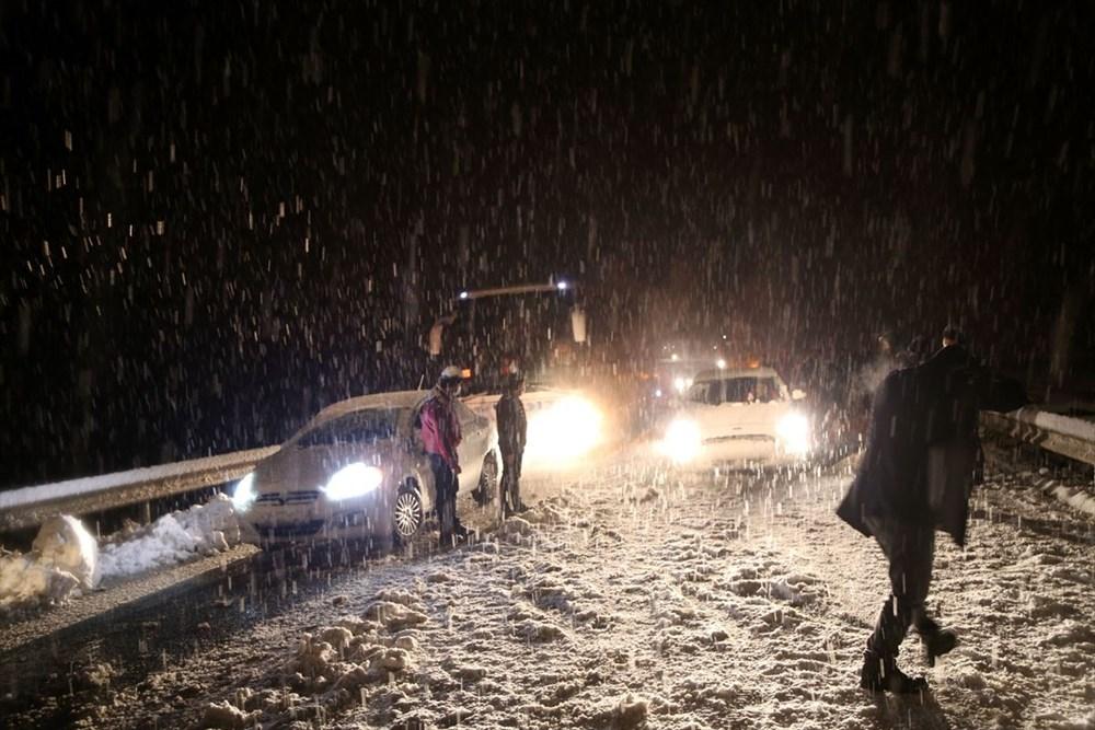 Sivas-Tokat karayolu yoğun kar yağışı dolayısıyla trafiğe kapandı - 2