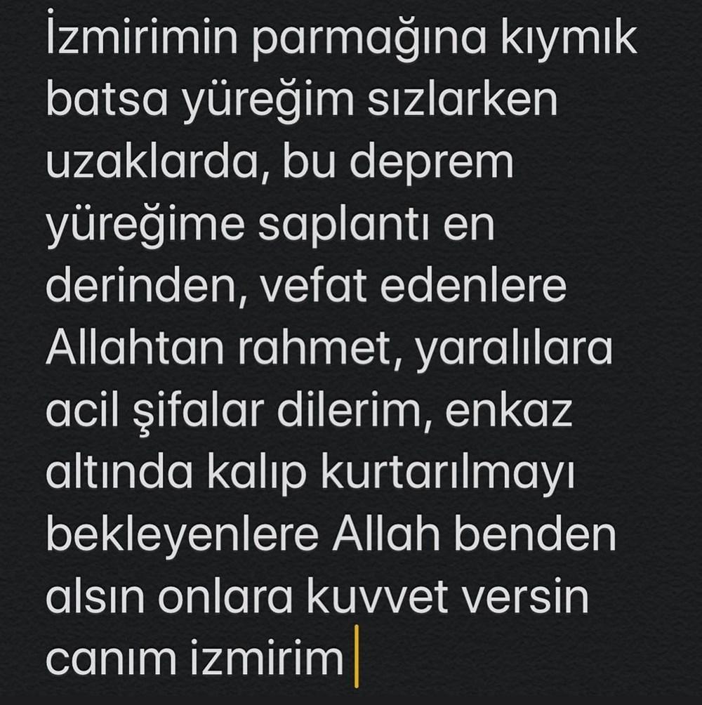 Ünlü isimlerden İzmir'e destek mesajları - 20