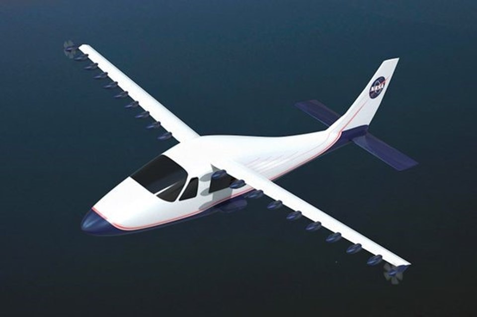 18 motorun birbirlerinden bağımsız olarak çalıştırılabildiği elektrikli uçağın önümüzdeki 2 sene içinde yaygınlaşması bekleniyor.