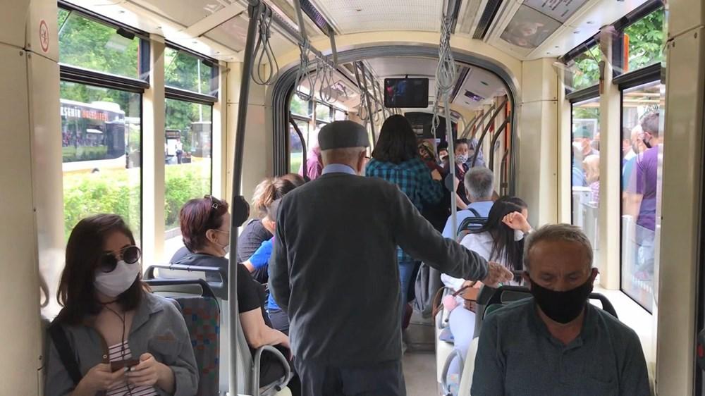 Sosyal mesafeye uymayan yolculara kızıp hareket etmedi - 9
