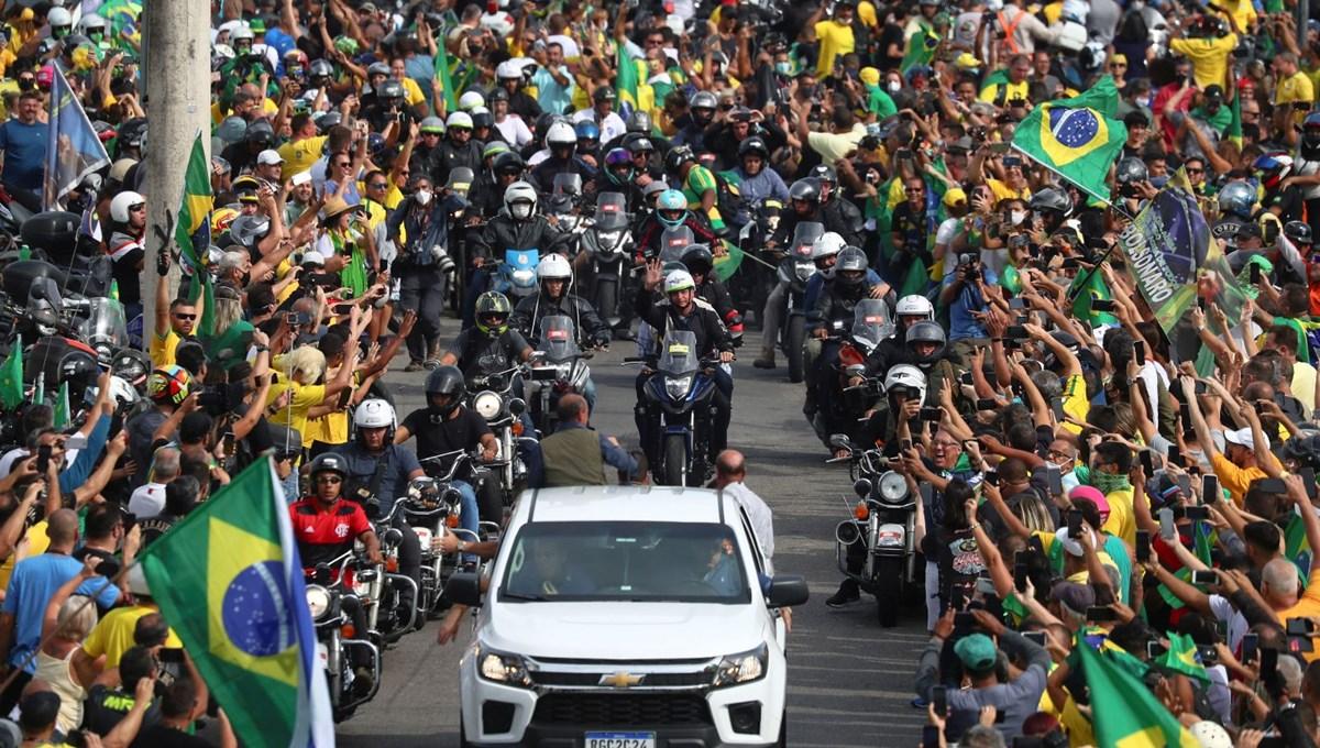 Bolsonaro'ya destek konvoyu